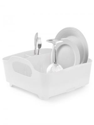 Сушилка для посуды Tub белая Umbra. Цвет: белый