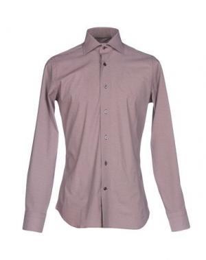 Pубашка GUGLIELMINOTTI. Цвет: красно-коричневый