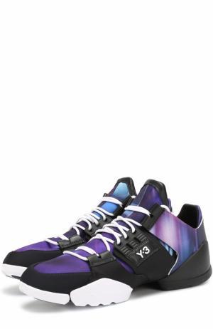 Кросcовки из текстиля на шнуровке Y-3. Цвет: сиреневый
