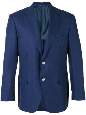 Пиджак с застежкой на две пуговицы Canali. Цвет: синий