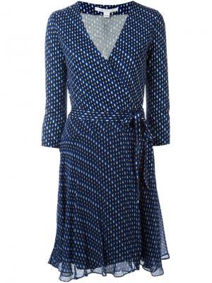 Платье с ложным запахом Diane Von Furstenberg. Цвет: синий