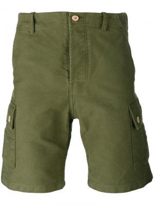 Шорты с задним карманом Bleu De Paname. Цвет: зелёный