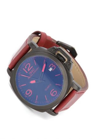 Часы на ремне IBSO. Цвет: черный, бордовый
