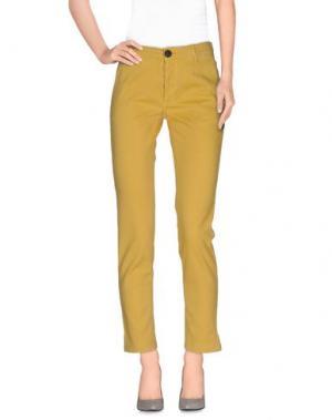 Повседневные брюки LEON & HARPER. Цвет: охра