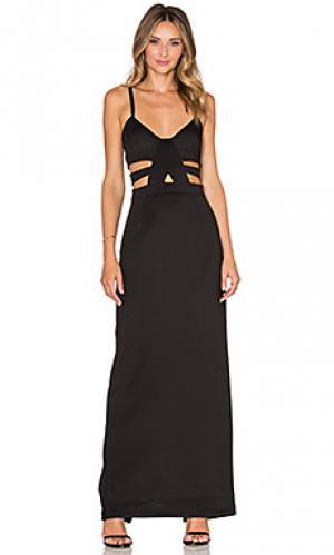Макси платье shera Nightwalker. Цвет: черный