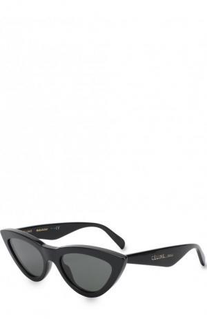 Солнцезащитные очки Céline Eyewear. Цвет: черный