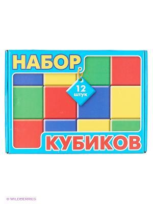 Набор кубиков 12 шт. в коробке Десятое королевство. Цвет: голубой, красный, желтый, синий, зеленый