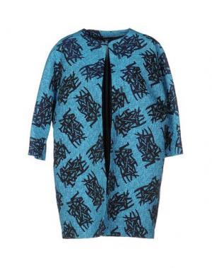 Легкое пальто HANITA. Цвет: лазурный