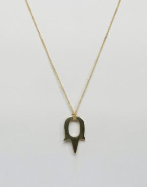 Made Ожерелье Kilauni Cast. Цвет: золотой