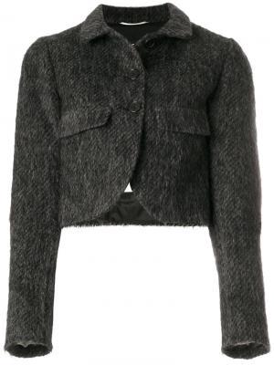 Укороченный пиджак на пуговицах Rochas. Цвет: серый