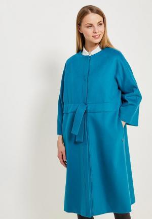 Пальто Parole by Victoria Andreyanova. Цвет: бирюзовый