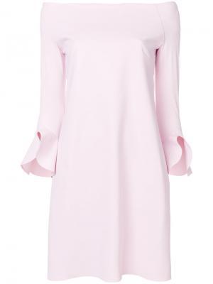 Платье Sheila с открытыми плечами Chiara Boni La Petite Robe. Цвет: розовый и фиолетовый