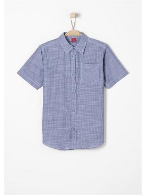 Рубашка S.OLIVER. Цвет: серо-голубой