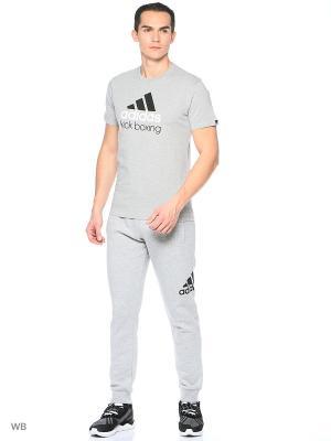 Футболка Community T-Shirt Kickboxing Adidas. Цвет: черный, серый