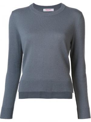 Укороченный свитер с круглым вырезом Organic By John Patrick. Цвет: серый