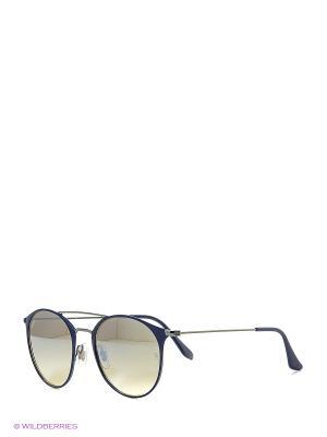 Очки солнцезащитные Ray Ban. Цвет: синий, серебристый