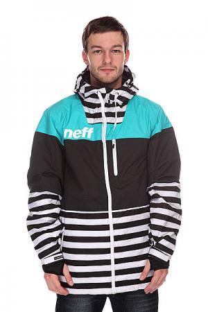 Куртка  Trifecta Stripe Neff. Цвет: голубой,черный