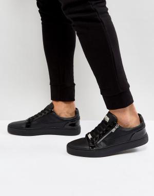 Glorious Gangsta Черные кроссовки с серебристой молнией London. Цвет: черный