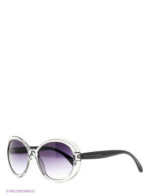Солнцезащитные очки United Colors of Benetton. Цвет: черный, серый