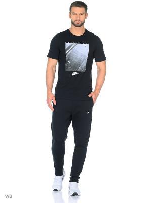 Футболка M NSW TEE PRESSN BK AGN Nike. Цвет: черный, белый