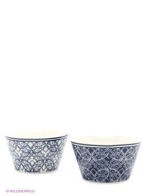Набор салатников  Витраж бело-синий Elan Gallery. Цвет: белый, синий