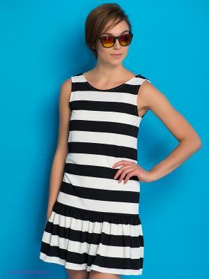 Платье PEPE JEANS LONDON. Цвет: черный, белый