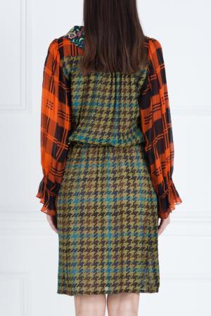 Платье из вискозы и шелка Duro Olowu. Цвет: multicolor