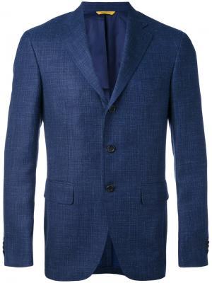 Пиджак с застежкой на три пуговицы Canali. Цвет: синий
