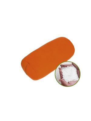 Валик анти-стресс подушка из флиса. Наполнитель: пенополистирол, разм. 30*15 SMART-TEXTILE. Цвет: оранжевый