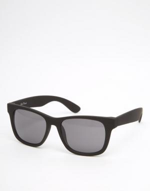 Black Phoenix Квадратные солнцезащитные очки матового черного цвета. Цвет: черный