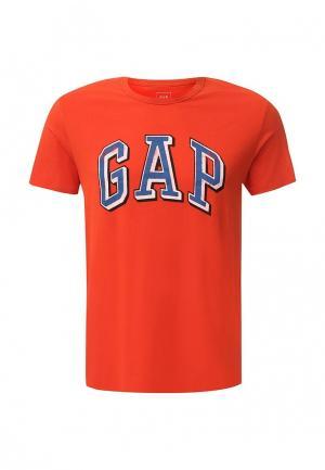 Футболка Gap. Цвет: оранжевый