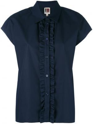 Рубашка с оборками IM Isola Marras I'M. Цвет: синий