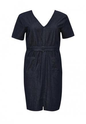 Платье джинсовое LOST INK CURVE. Цвет: синий