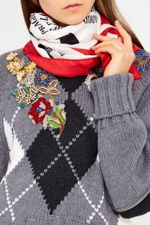 Шелковый платок с принтом Cities Gucci. Цвет: multicolor