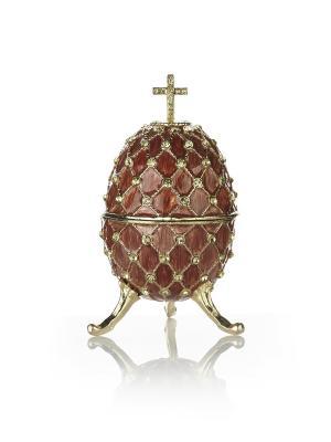 Шкатулка яйцо на подставке Holy Land Collections. Цвет: коричневый