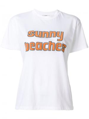 Футболка Sunny Beaches Ganni. Цвет: белый
