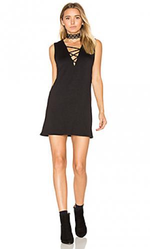 Мини платье с перекрестными шлейками elsa Riller & Fount. Цвет: черный