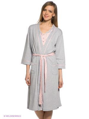 Комплект HAYS. Цвет: серый меланж, розовый