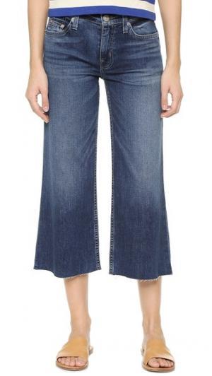 Укороченные широкие джинсы Sammi Hudson. Цвет: голубой