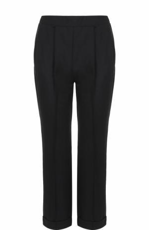 Укороченные брюки прямого кроя с защипами Dorothee Schumacher. Цвет: черный