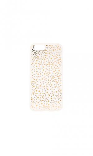 Чехол для iphone 6/6s confetti Sonix. Цвет: металлический золотой