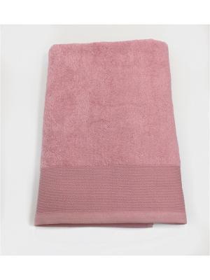 Полотенце A and C Collection. Цвет: бледно-розовый, серый