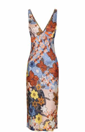 Платье-миди с принтом без рукавов Acne Studios. Цвет: разноцветный