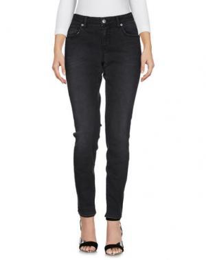 Джинсовые брюки MAISON CLOCHARD. Цвет: черный