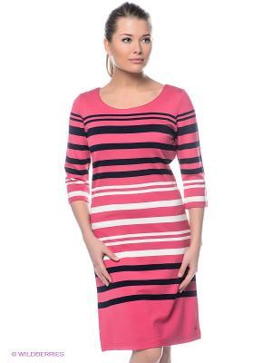 Платье Luhta. Цвет: розовый, темно-синий