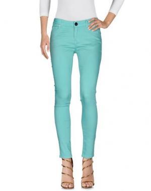 Джинсовые брюки ATELIER FIXDESIGN. Цвет: светло-зеленый