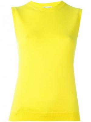 Вязаный топ без рукавов Oscar de la Renta. Цвет: жёлтый и оранжевый