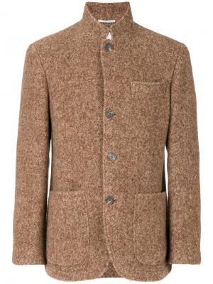 Блейзер с накладными карманами Brunello Cucinelli. Цвет: коричневый