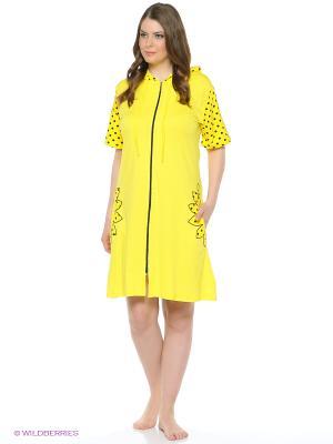 Ночная сорочка NICOLETTA. Цвет: желтый