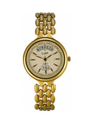 Часы наручные ЛУЧ.. Цвет: светло-бежевый